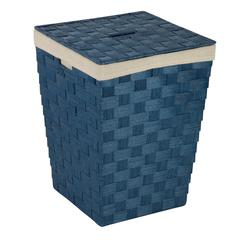 Honey Can Do Woven Hamper With Liner, Blue