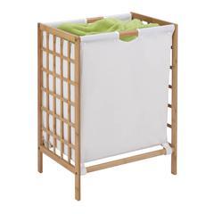 Honey Can Do Bamboo Grid Frame Hamper, Natural