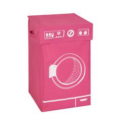 Honey Can Do Graphic Hamper, Washing Machine Pink