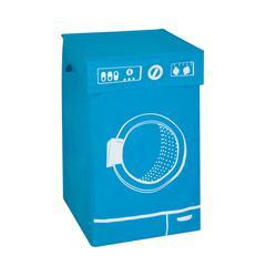 Graphic Hamper, Washing Machine Blue