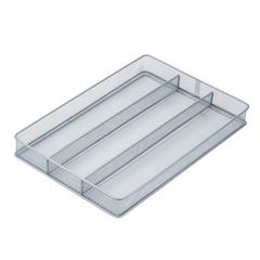 Steel Mesh Organizer Tray, Gray/Silver