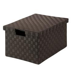 Large Woven File Box, Espresso