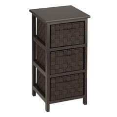 Honey Can Do 3-Drawer Storage Chest, Espresso