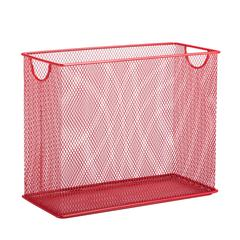 Honey Can Do Table Top Hanging File Organizer, Red