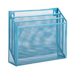 Honey Can Do Vertical File Sorter, Blue