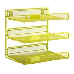 Honey Can Do 3-Tier Desk Organizer, Lime