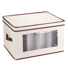 Natural Canvas Large Window Storage Chest