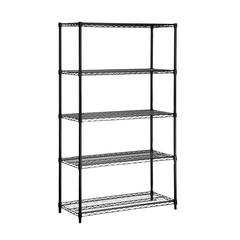 Honey Can Do 5-Tier Black Storage Shelves 800 Lbs