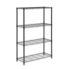 Honey Can Do 4-Tier Black Shelving Unit - 250 Lbs