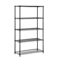 5-Tier Black Storage Shelves 350 Lbs