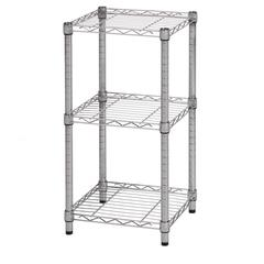 Honey Can Do 3-Tier Chrome Wire Shelving Tower 14X15x30in