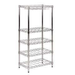 5-Tier Wine Rack, Chrome