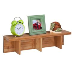 Large Sectioned Wall Shelf, Bamboo