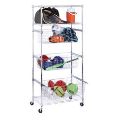 Honey Can Do Sports/Garage Organizer, Chrome
