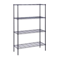 Honey Can Do 4-Tier 350Lbs, 18X48x72 Blk, Black