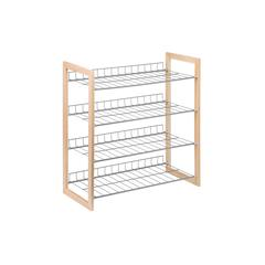 4-Tier Wood And Metal Storage Shelf