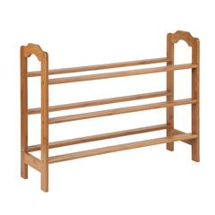 Honey Can Do 3-Tier Bamboo Shoe Rack, Natural Finished Bamboo