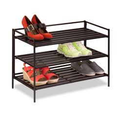 3-Tier Shoe Rack, Brown, Espresso
