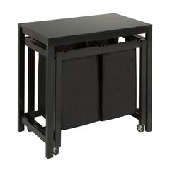 Double Sorter Folding Table, Black