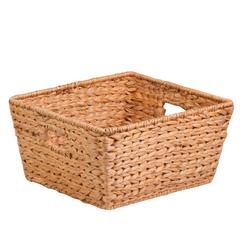 Large Tall Water Hyacinth Basket, Natural / Brown