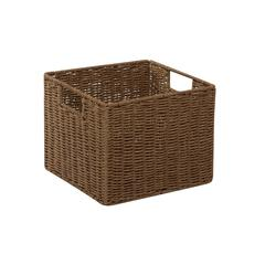 Honey Can Do Parchment Cord Crate, Brown