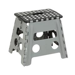 Folding Step Stool, Black/Gray
