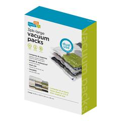 3-Pack Large Vacuum-Packs, Clear