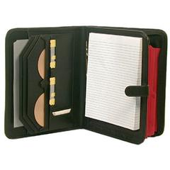 Deluxe Leather Look Writing Pad and File Holder Black