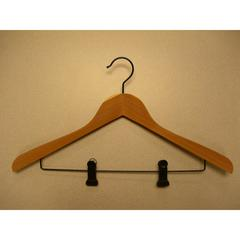 Proman Products Cedar Concave Suit Hanger with Clips