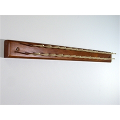 Home Essential tie hanger, 30 tie bars, walnut finish