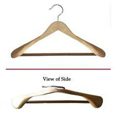 Libra Wide Shoulder Suit Hanger w/PVC Ribbed Bar