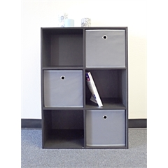 Proman Products Colonial Storage Cube Black