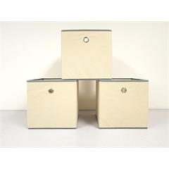 Proman Products Colonial Fabric Bins in Beige