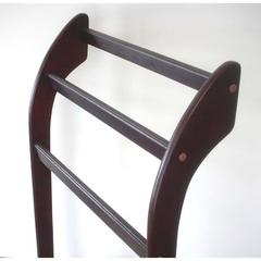 3-Rung Towel Rack, solid wood with mahogany finish