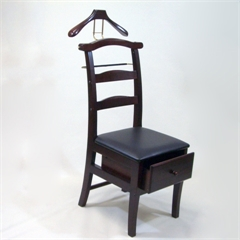 Proman Products Manchester Chair Valet in Dark Mahogany