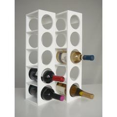 Proman Products Rutherford Wine Racks White