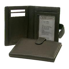 Bond Street Luxurious Japanese drum dyed Leather Note-Card holder