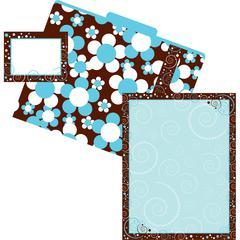 Barker Creek Get Organized Hot to Dot - Set of 12 FIle Folders, 50 Sheets Paper, 45 Labels