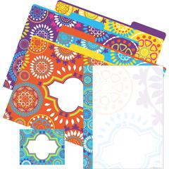 Get Organized Kit - Moroccan - Set of 12 File Folders, 50 Sheets Paper, 45 Labels