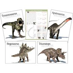 Barker Creek Dinosaur Poster Set of 5