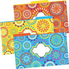 Legal-Size File Folders - Moroccan, Multi-Design Set of 9
