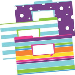 Legal-Size File Folders - Happy, Multi-Design Set of 9