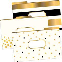 Barker Creek Legal-Size File Folders - 24K Gold, Multi-Design Set of 9