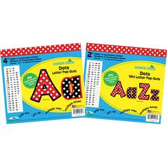 "Barker Creek Letter Pop-Out Set of 2"" & 4"" Dots"