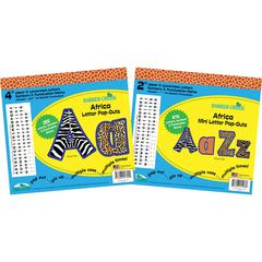 "Letter Pop-Out Set of 2"" & 4"" Africa"