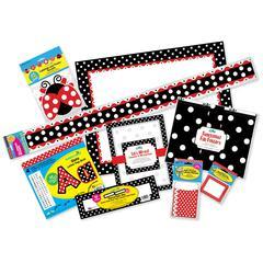 Designer Classroom 9-Piece Set - Just Dotty