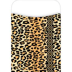 Barker Creek Peel & Stick Africa - Leopard Pockets Set of 30