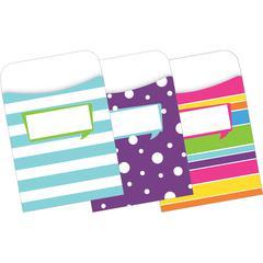 Barker Creek Peel & Stick Pockets - Happy, Multi-Design Set of 30