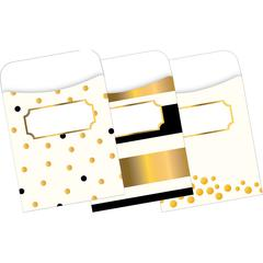 Peel & Stick Pockets - Gold, Multi-Design Set of 30