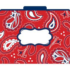 Barker Creek Bandana File Folders Set of 12